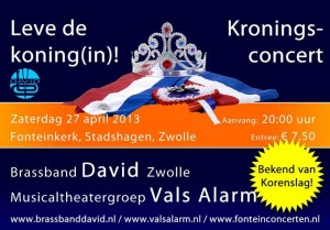 Kroningsconcert 27 april 2013
